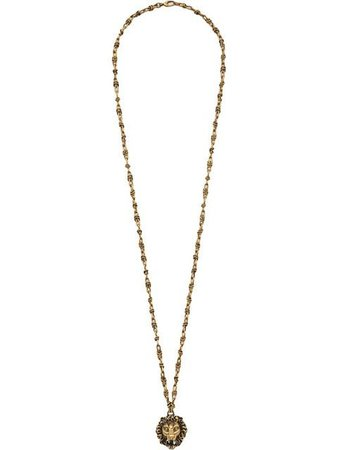 Gucci Lion head necklace with pearl