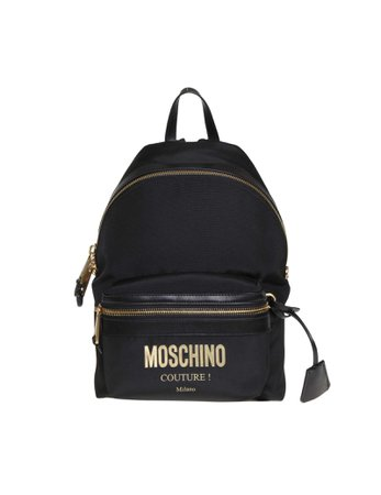 Moschino Backpack In Black Fabric