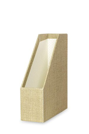 Amazon.com : Kate Spade New York Office Supplies Desk Organizers, Grasscloth (Magazine/File Holder) : Office Products