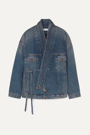 Judo Oversized Denim Jacket - Blue
