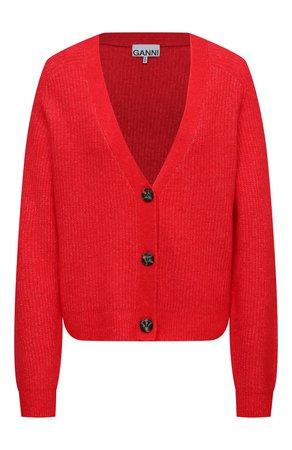 Женский красный кардиган GANNI — купить за 31350 руб. в интернет-магазине ЦУМ, арт. K1498