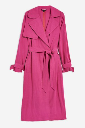 Pink Belted Trench Coat | Topshop