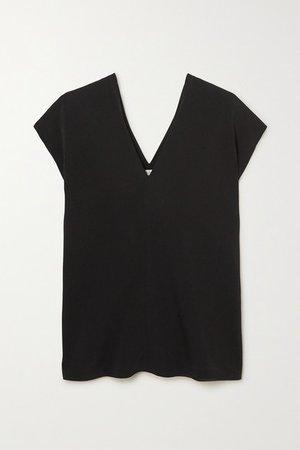 Labo Stretch-jersey T-shirt - Black