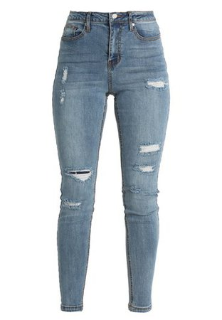 Missguided SINNER HIGHWAISTED DISTRESSED AUTHENTIC - Jeans Skinny Fit - vintage blue - Zalando.co.uk