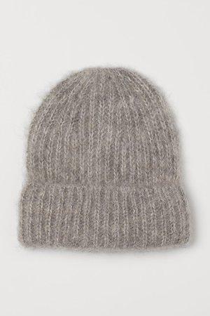 Wool-blend Hat - Gray melange - Ladies | H&M US