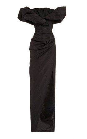 Moiré Gathered Gown dress
