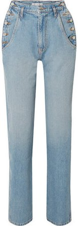 TRE by Natalie Ratabesi - The Aphrodite High-rise Slim-leg Jeans - Blue