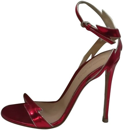 Portofino Red Leather Sandals