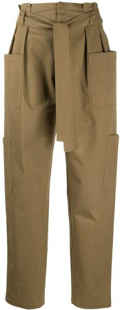 Waist-Tied Cargo Trousers