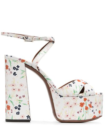 L'Autre Chose floral-print Platform Sandals - Farfetch