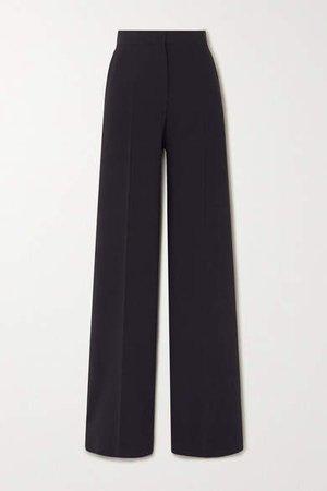 Afoso Stretch-wool Wide-leg Pants - Navy