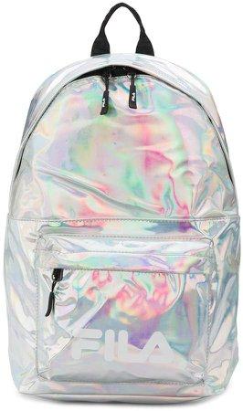 holographic logo backpack
