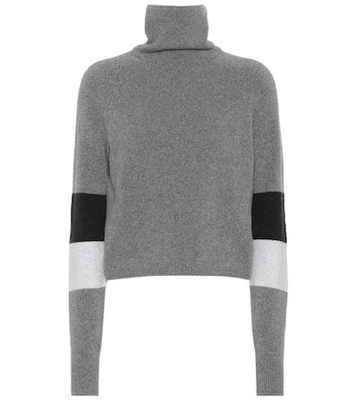 Piste cotton-blend turtleneck sweater