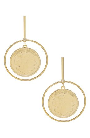 Ettika Coin & Hoop Drop Earrings | Nordstrom