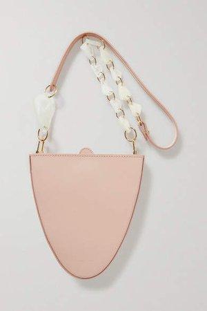 Naturae Sacra - Cyssus Leather And Resin Shoulder Bag - Blush