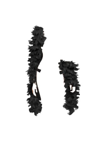 Black Feather Boa PNG