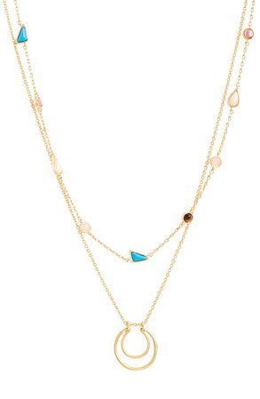 Madewell Cabochon Layered Necklace | Nordstrom
