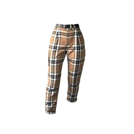 plaid pants w/ belt