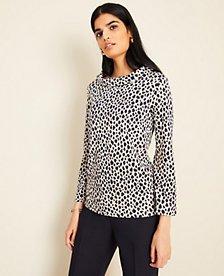 Cheetah Print Mock Neck Top | Ann Taylor