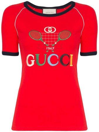 Tennis Racket logo printed T-shirt