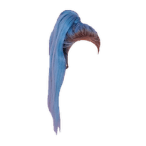blue hair png ponytail