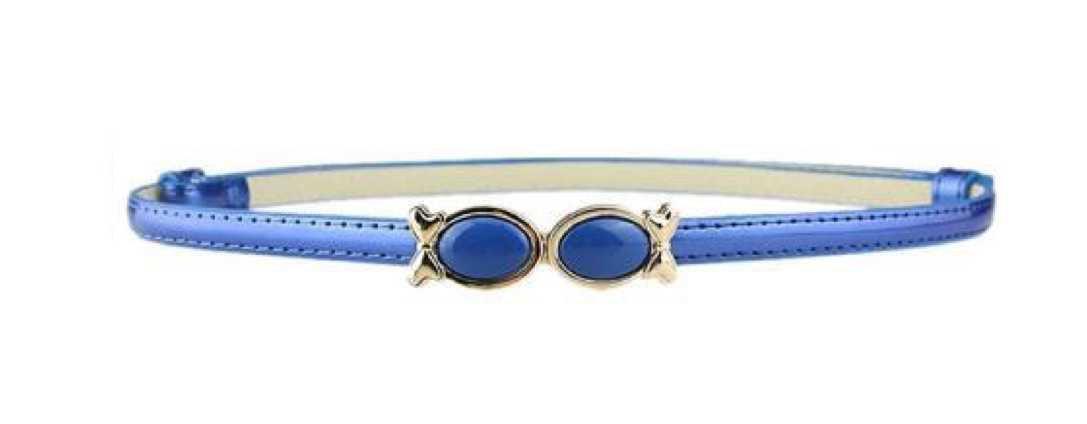 blue waistband belt