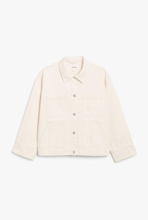 Denim jacket - Cream - Denim jackets - Monki WW