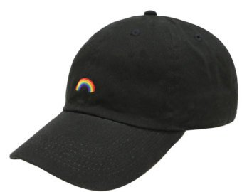 rainbow black hat