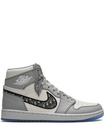 Jordan x Dior Air Jordan 1 Höga Sneakers - Farfetch