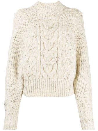 Isabel Marant chunky-knit Speckled Jumper - Farfetch