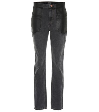 Novera leather-trimmed jeans