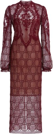 Costarellos Denna Lace Midi Dress