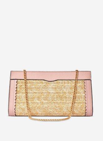 Multi Colour Raffia Panel Clutch Bag | Dorothy Perkins