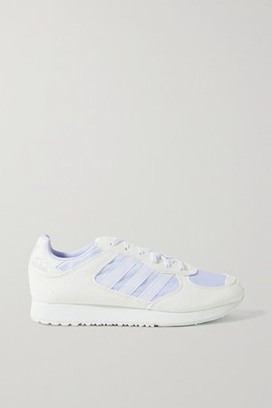 Special 21 Leather-trimmed Suede And Mesh Sneakers - White