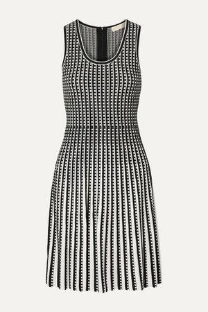 Pleated Stretch-knit Dress - Black