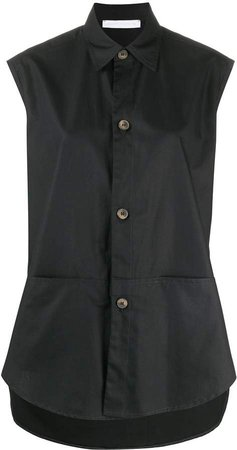 Sleeveless Button-Down Blouse
