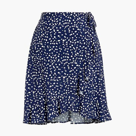 Faux-wrap mini skirt
