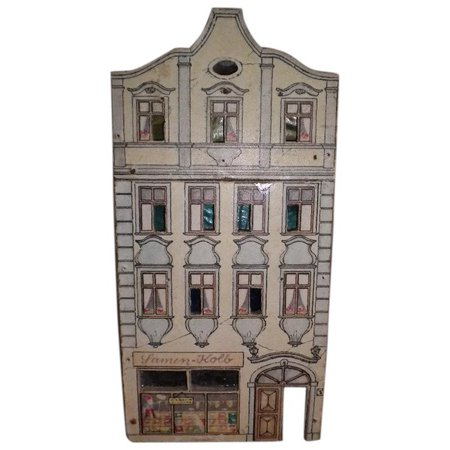 Antique Small Lithograph Doll House Samen-Kolb Shop : Tresors-de-Belles | Ruby Lane