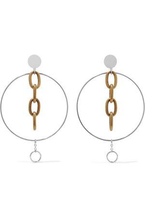 Miu Miu | Silver and gold-tone clip earrings | NET-A-PORTER.COM