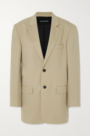 Oversized Wool-blend Blazer - Beige