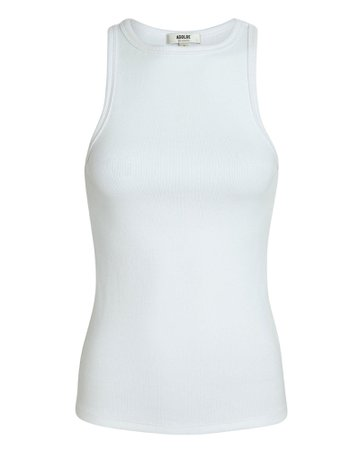 AGOLDE Rib Knit Cotton Tank Top | INTERMIX®