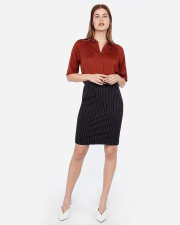 High Waisted Striped Pencil Skirt