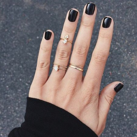 Pinterest - Black Nails