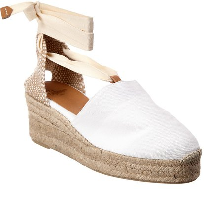 CastaEr Campesina Ankle Wrap Canvas Wedge Espadrille