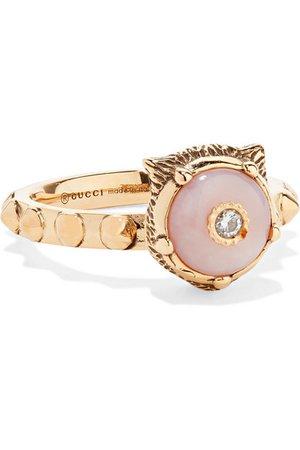 Gucci Le Marché des Merveilles 18-karat gold, diamond and opal ring