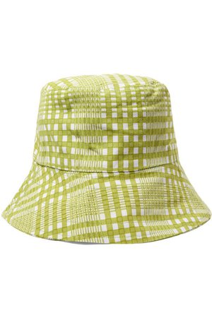 Faithfull The Brand | Checked cotton-canvas bucket hat | NET-A-PORTER.COM