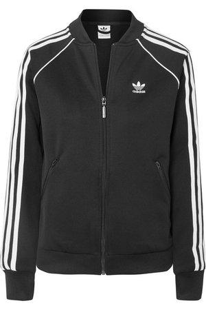adidas Originals | Striped stretch-jersey track jacket | NET-A-PORTER.COM