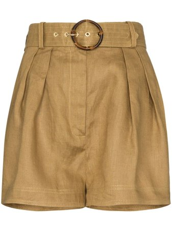 Zimmermann Belted box-pleated Shorts - Farfetch