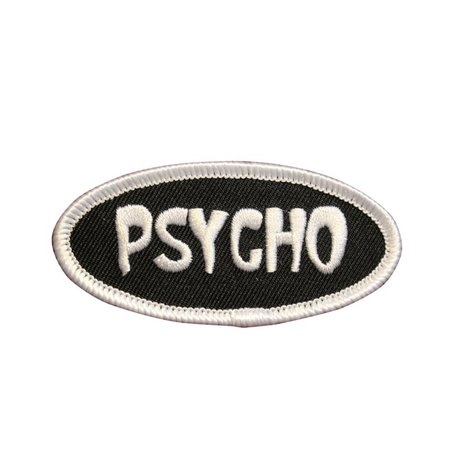 Psycho Novelty Funny Name Tag Embroidered Iron On Patch | Etsy