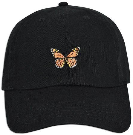 Monarch Butterfly Embroidered Dad Cap Hat Adjustable Polo Style ...